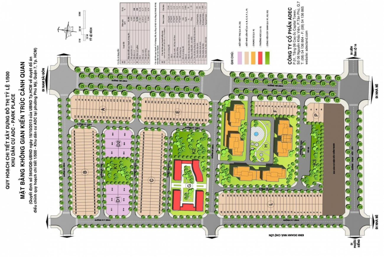 Quy mô và thông tin chi tiết về Dự án ADC Quận 7 .