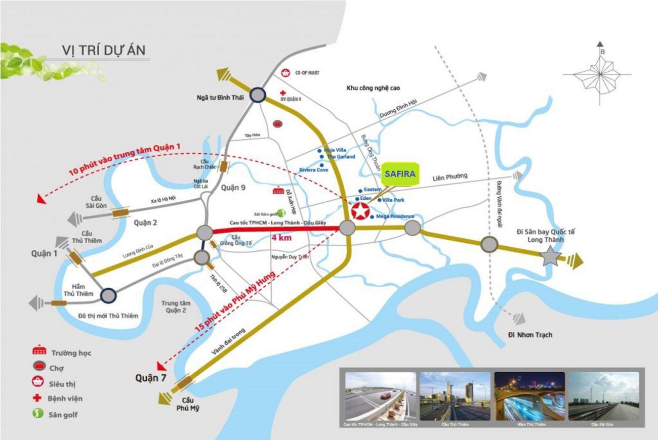 Vị trí chiến lược tại Sapphire Phú Hữu Khang Điền