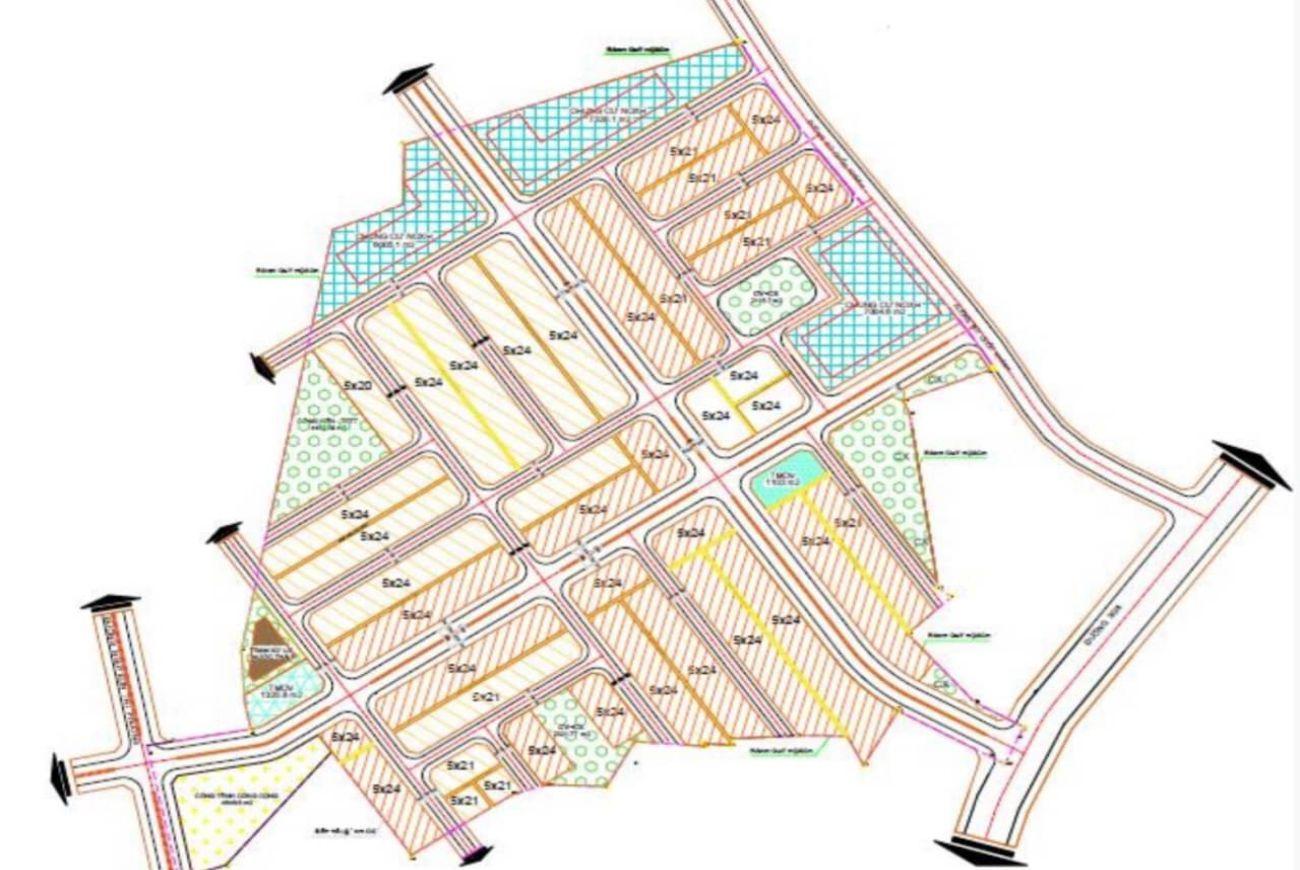 Mặt bằng phân lô của Khu đô thị Central Residence Bình Dương