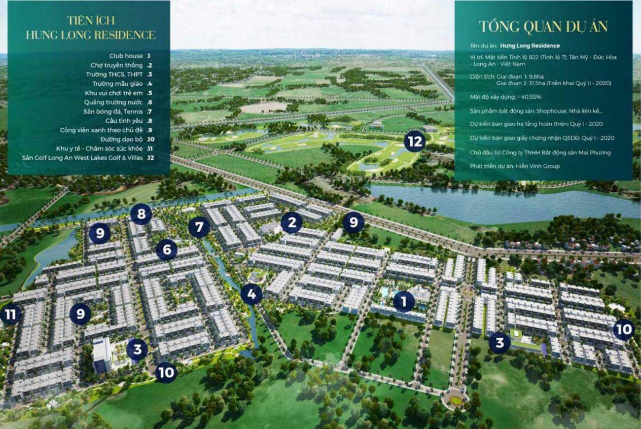 Thiết kế tinh tế của Dự án Hưng Long Residence An.