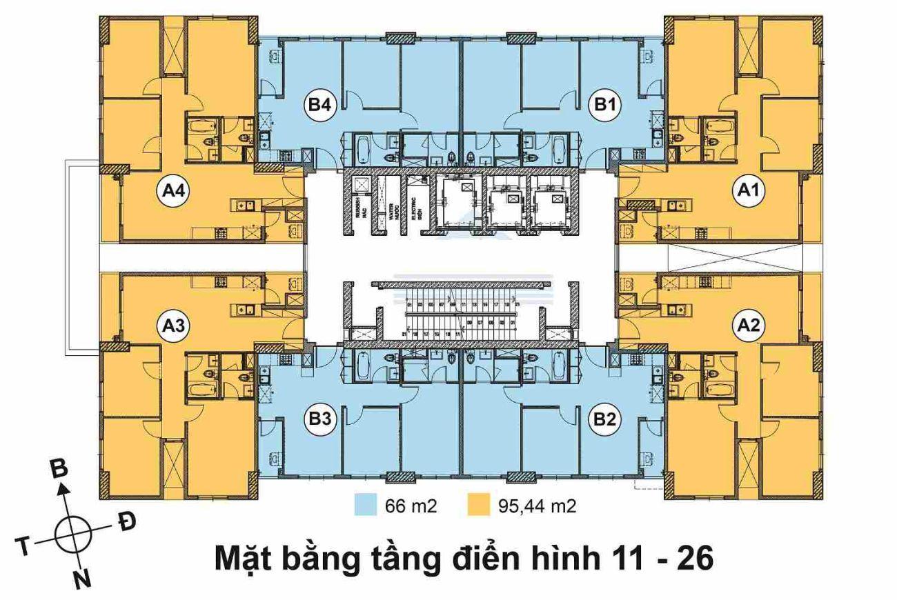 Mặt bằng phân lô của Căn Hộ Huỳnh Tấn Phát Quận 7