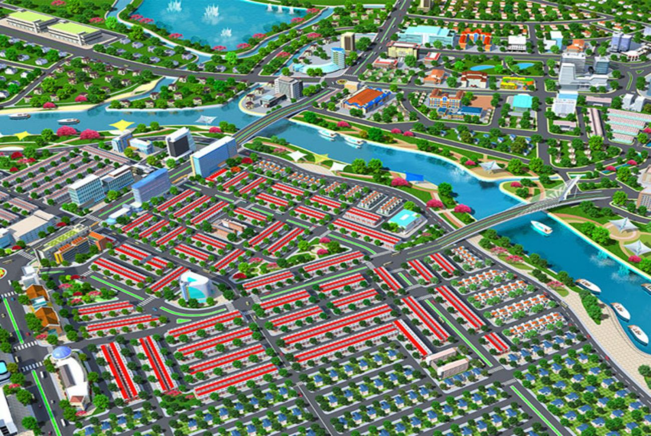 Mặt bằng phân lô của Khu đô thị Tân Phú Mega City 3 Bình Dương