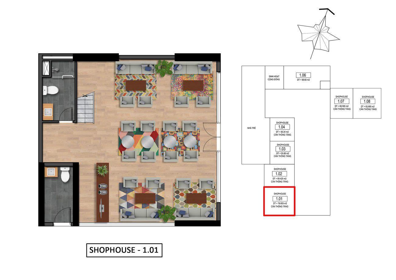 Thiết kế chi tiết Goldora Plaza Nhà Bè