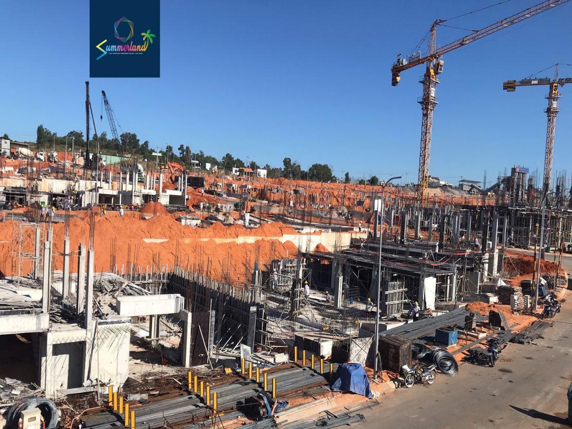 Tiến độ xây dựng tháng 2/2021 tại Khu đô thị Summerland Mũi Né