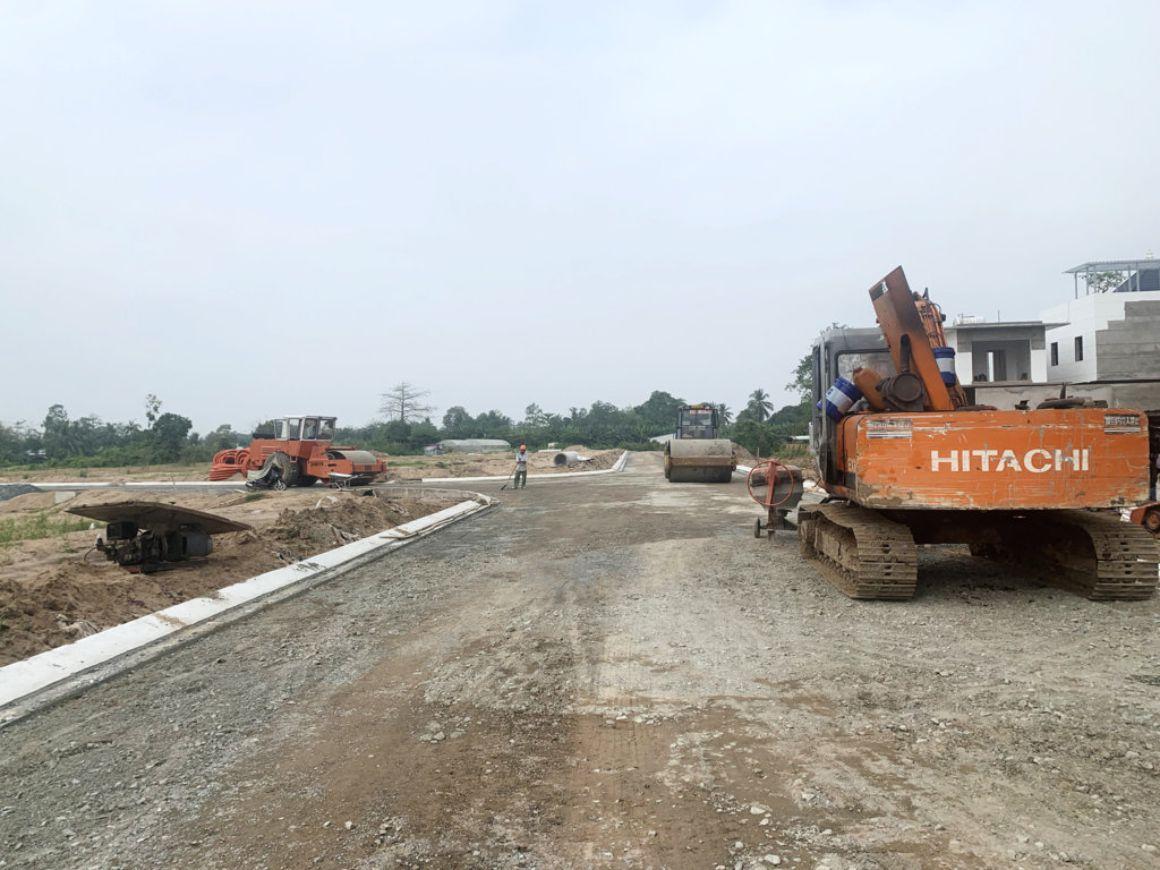 Tiến độ xây dựng tháng 2/2021 tại Goldland Cồn Khương Cần Thơ
