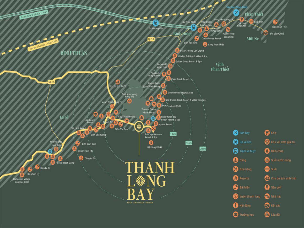 Vị trí chiến lược tại Thanh Long Bay