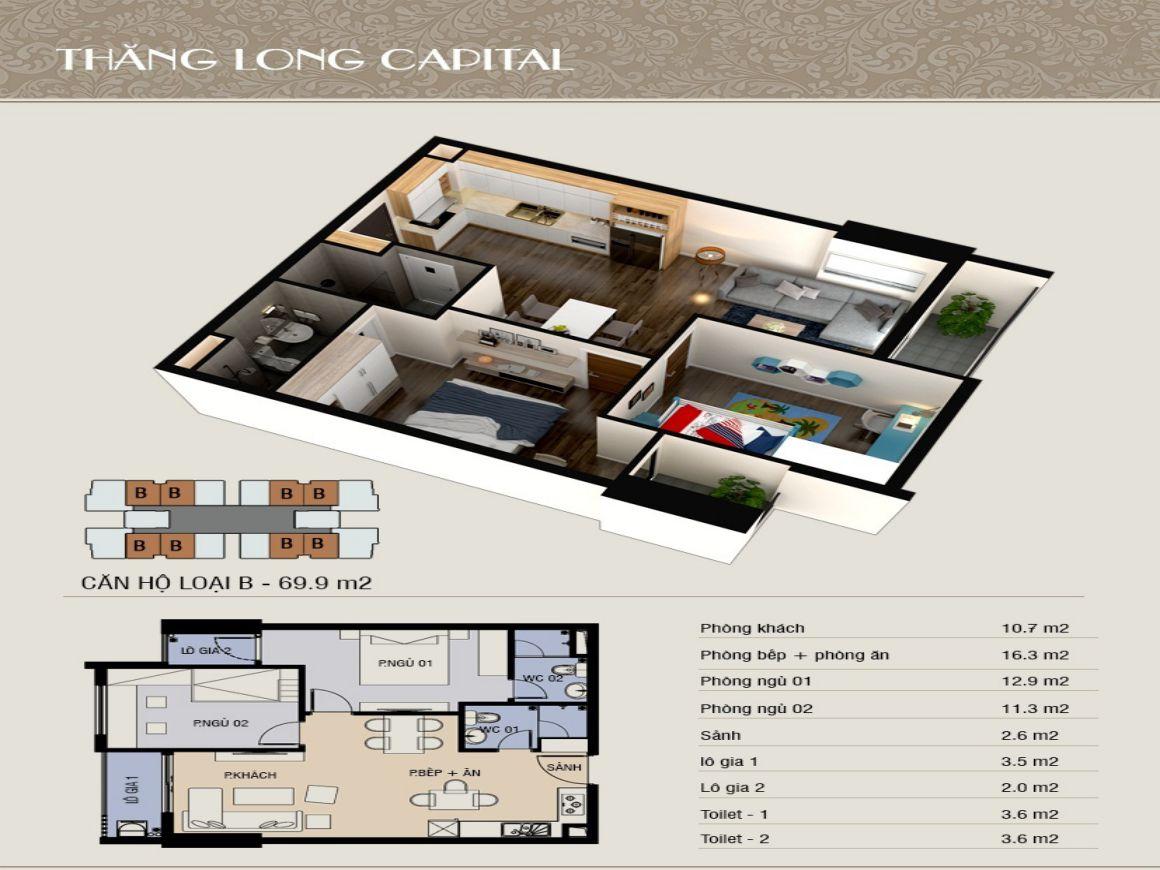 Thiết kế chi tiết căn hộ Thanh Long Bay