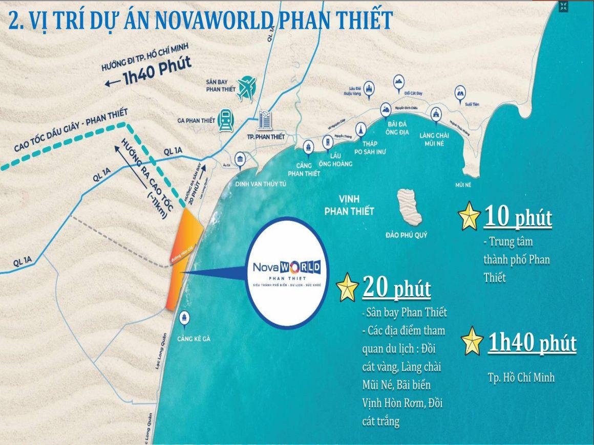 Vị trí chiến lược tại Novaworld Phan Thiết