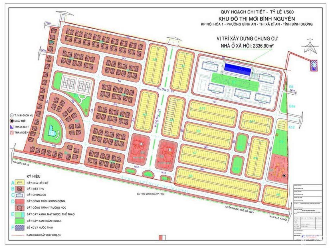 Mặt bằng chi tiết dự án căn hộ LDG Sky Bình Dương