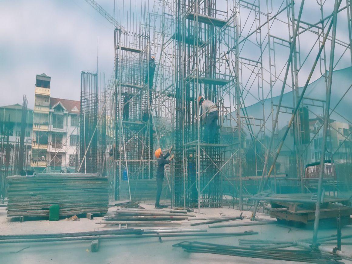 Tiến độ xây dựng tháng 08/2021 tại Dự án Feliz Homes Hoàng Mai