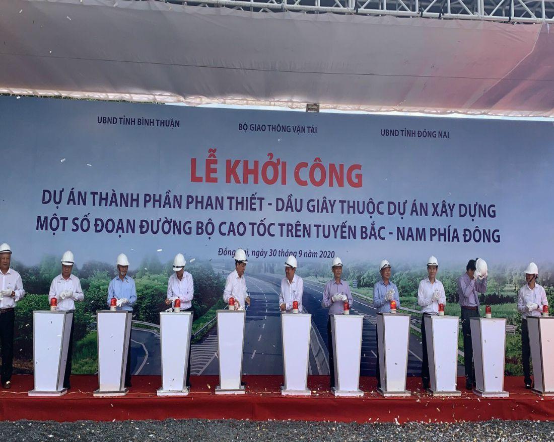 Lễ khởi công đường cao tốc Phan Thiết Dầu Dây