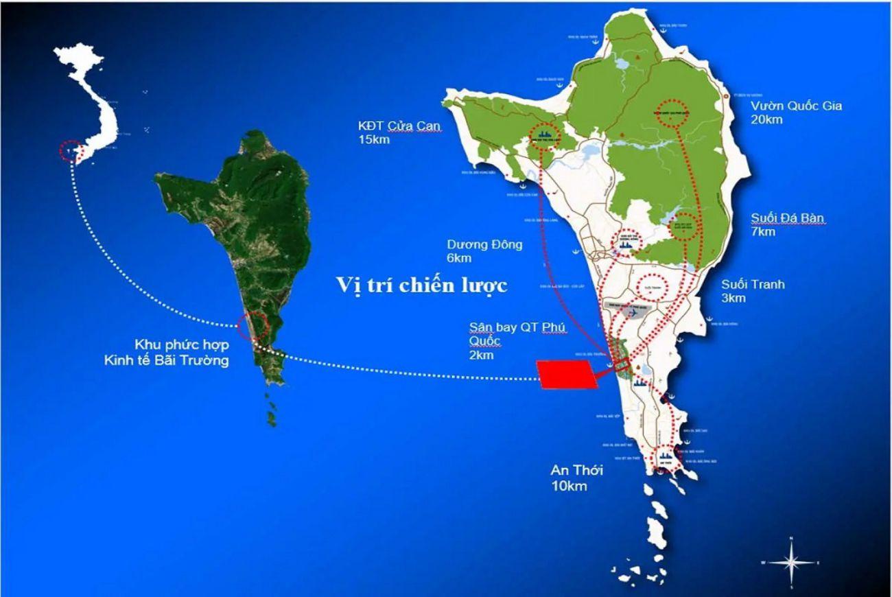 Vị trí chiến lược tại Biệt Thự Selavia Bay Phú Quốc