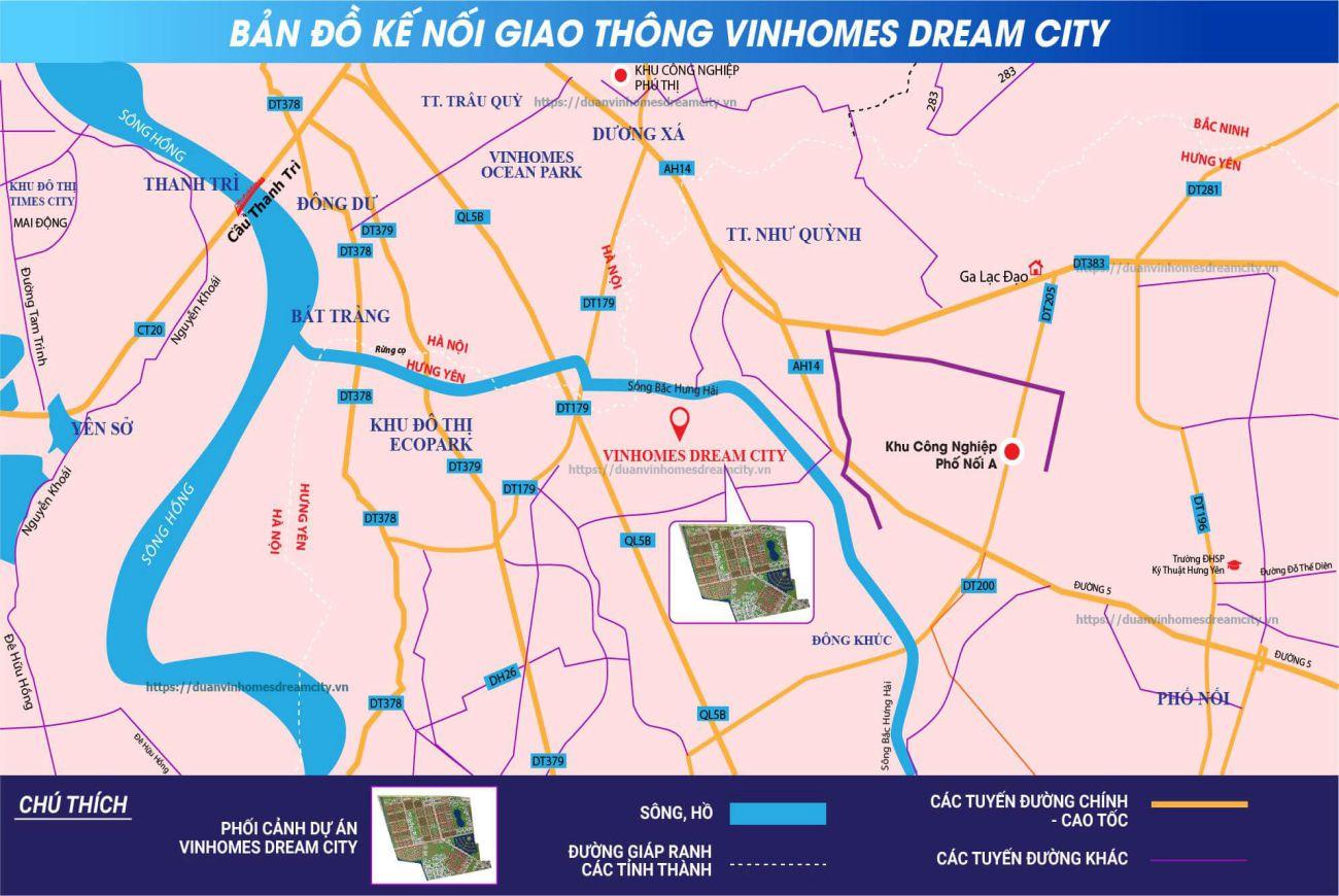 Đại chỉ vị trí chính xác dự án Vin Hưng Yên