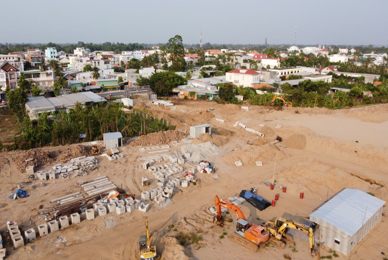 Tiến độ xây dựng tháng 03/2021 tại Tnr Chợ Mới An Giang