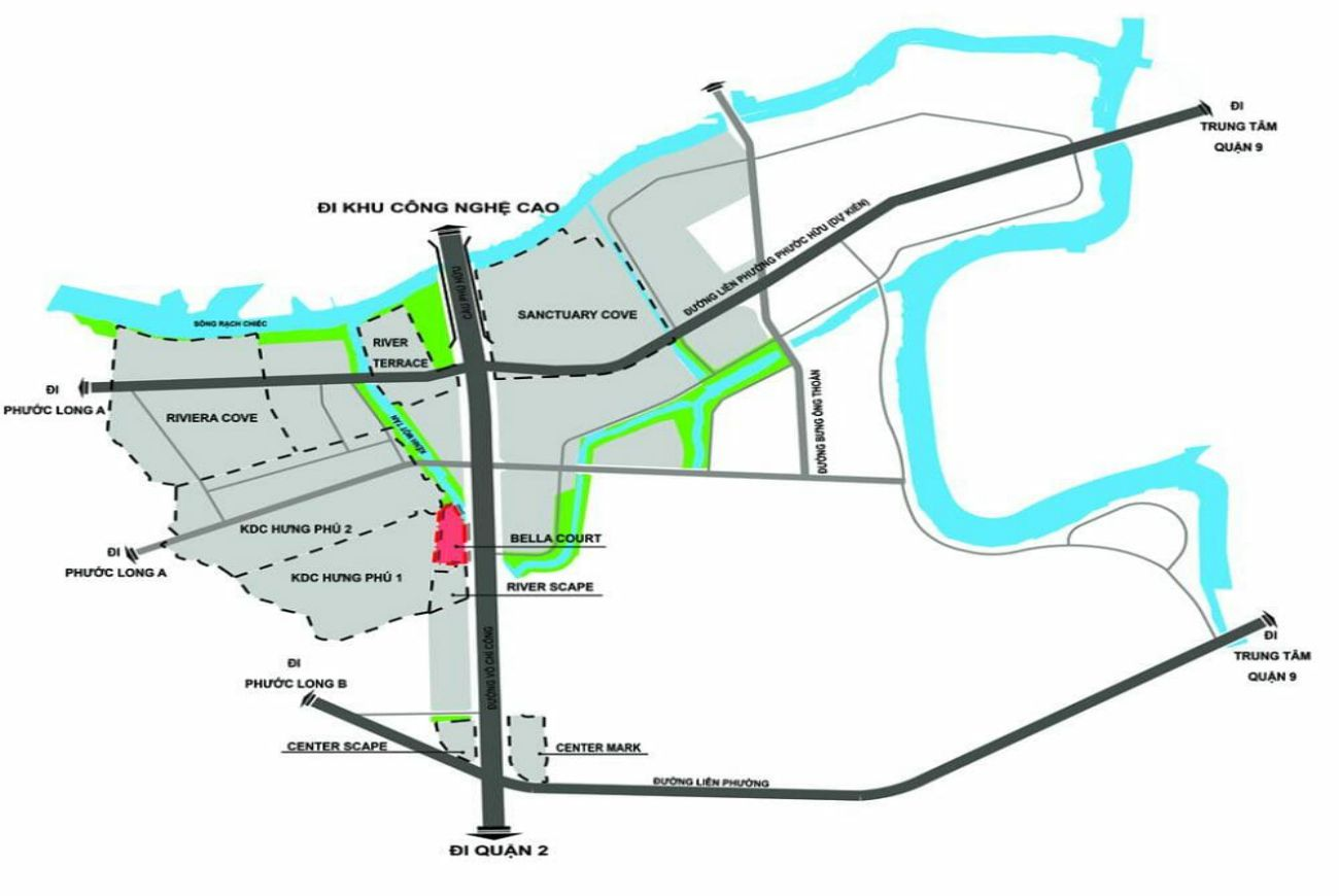 Vị trí chiến lược và đắc địa tạiBella Court Quận 9